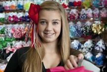"""Hair Bows  / We have the very best hair bow selection in town and with the Shear Madness """"Build a Bow"""" concept you can create unlimited combinations and creations. Visit one of our salons and try for yourself!"""