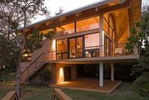 Wooden Homes / These wooden homes from TrendHunter.com blur the line between nature and frill