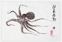 OCTOPI / A board dedicated to fabulous octopus, kraken and squid! / by WATT0 Distinctive Metal Wear