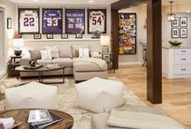 Man Cave Ideas / Man Cave inspiration - sports, tools, bars, gyms, & more!
