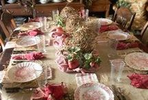DECOR IDEAS - tablescapes / by Shannon Winters