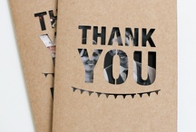 Thank you pressies & cards / by Johanna MacGregor