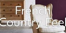 French Country Feel / A selection of our beautiful pieces inspired by French country interior. They offer a rustic charm to your home.