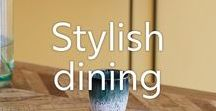 Dining Room Ideas / Welcome to the dining room: a collection of some of our favourite dining room editions that will add a stylish edge to your home. Feel inspired from rustic dining tables to fine dining dinnerware.