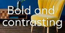 Bold Colours Interior / Rich pigments and bold and contrasting colours are set to be a big hit in 2018 and we're here to help you stay on trend with our Made-to-Order sofas. Be bold this year and find the colour that is going to make your home stand out.