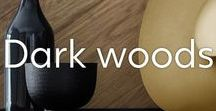Dark Wood Interior / It's time for light woods to step aside and make way for deeper, darker tones. Dark mango wood and dark acacia will help you stay on trend in 2018, and we've got plenty of it. Be bold and take a look at darker woods this year for a more stylish and sophisticated home.