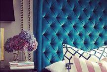 Bedroom Inspiration / Everything glamorous! Lots of velvet & tufted headboards! / by 💜Amanda Briseno💜