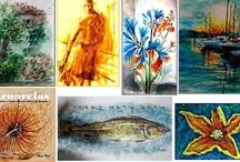 Watercolors / You can see more about prices and disponibility at :  Mas sobre precios y disponibilidad en mi web: http://www.rosaprat.es/tienda/  see my personal blog at facebook :https://www.facebook.com/rosapratyaque?hc_location=timeline