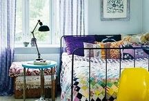 Bedrooms / DIY bedroom decor, eclectic bedroom, thrifted bedroom decor / by Rachel Linquist