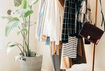 Style / minimal, classic fashion full of stripes, plaid, neutrals, and jewel tones