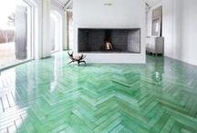 Underfoot: Flooring Ideas / by Beth Alphonse