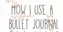BuJo / Bullet journal inspiration and tutorials.