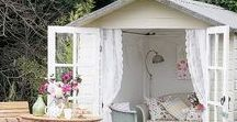 How to style a wooden playhouse / Take a look at these ideas on how to style a wooden playhouse...