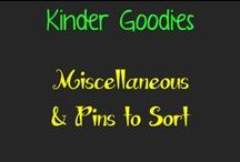 kinder goodies / by Amy Mc