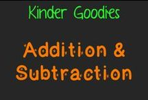 kinder goodies {addition/subtraction} / by Amy Mc