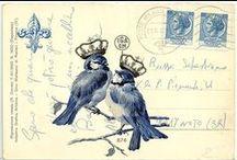 Calligraphy ~ Vintage Cards & Stamps / by JSP