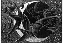 etchings/woodcuts/prints / by Ingrid Sherwood