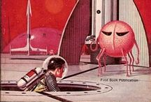 VINTAGE Sci-fi / Vintage art from the early days of science fiction.
