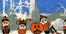 Vintage Halloween Paper / Crepe & tissue paper prints & designs