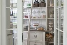 Farmhouse Cottage Kitchens / White cabinets, bead board, wood floors, wood or natural counters...all these speak of a welcoming, laid back farmhouse cottage kitchen.