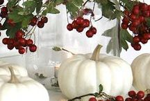Country Cottage Fall Decor / .