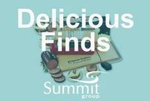Delicious Finds! / Contact Summit Group for all of your branded merchandise!  Marketing@summitmg.com