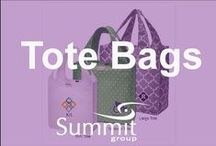 Tote Bags Galore! / Contact Summit Group for all of your branded merchandise!  Marketing@summitmg.com
