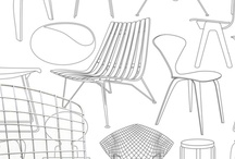 Mid century modern inspiration / Mid century design - 1950's and 1960's - an amazing time for designers to get happy and create.  New materials and technology and manufacturing process made all this possible.