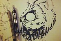 Drawing Tutorials & Tips / Tutorials drawing sketching,tekenen,schetsen,technieken