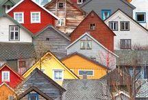 Housebound / House shapes as art & design elements