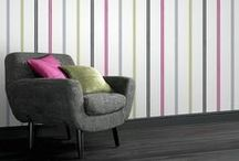Super Stripes / Create a stunning statement with Striped Wallpaper from  The Range. Add emphasis or height to your home with  bold stripes and a harmonising range of colours. / by The Range