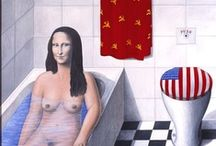 Art - Homage - Leonardo Mona Lisa / by Naomi Hoffmann
