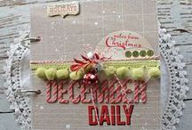 DIY December Daily / Document your December holidays with DIY themed books, journals, scrapbooks, albums, paper crafts and anything else that fits in! / by Ryann Salamon