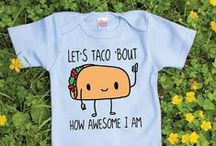 Funny Baby Onesies / Funny onesies & adorable baby clothes perfect for a baby clothes quilt!