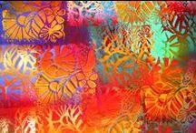 mixed media-fibre-textile art