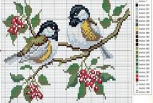 Pearls and Cross stitch Pattern