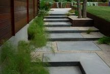 Path and Driveway / Different materials for your outdoor pathways through your yard. Stone, steel and wood.