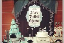 BRIDAL SHOWER / For my sisters wedding (white, black and turquoise)