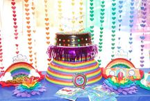 RAINBOW BDAY PARTY / Antonia's 1th Birthday Party  / by Anneliesse Rek