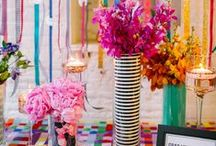 Colorful, Pattern-Filled Kate Spade Inspired New Year's Eve | Real Style Shoot / As we all prepare to watch the clock strike midnight for 2015, {SHE} teamed up with a group of talented pros from the Steel City to create this colorful, high-energy, pattern-filled NYE soirée, featured on The Perfect Palette 12/30/14!