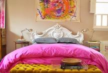 Sleeping Chambers / hot pink & gold meet shabby chic / by Randi Thackeray