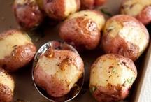 {FooD} hot potato / red, sweet, baked & smashed....