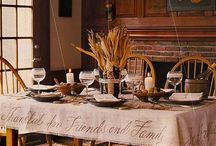 Thanksgiving Gatherings / Decor, table scapes, art & prose
