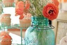 floral inspirations / floral color combos, arrangements, to compliment staging