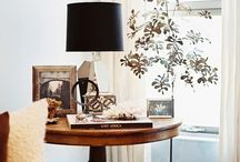 small stylings & stagings / Coffee table, Side table & Shelving vignettes
