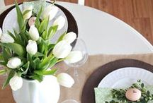 Spring Tablescapes / Spring is around the corner. Start planning your spring tablescapes early!