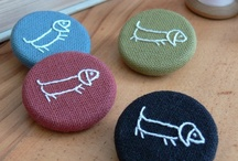 Fabric Covered Buttons / Using fabric on novelty buttons