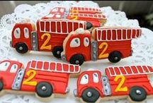 Fire Truck Birthday Party / Fun ideas for a creative Fire Truck birthday party. This board had food, cake, cupcake, cookie, decoration, and invitation ideas to make your fire truck party the best. Order our Fire Truck invitation from our Etsy shop at http://etsy.me/2dsx2cq.