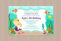 Mermaid Birthday Party Ideas / Mermaid Under the Sea themed Birthday Party Ideasfeaturing invitations, party favors, tutus, and printable decorations #mermaid #under the sea #birthday #party #ideas