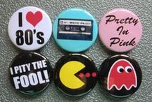 Retro Buttons / Pin back buttons that send you back in time!